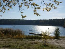 Pomost nad jeziorem Turawskim